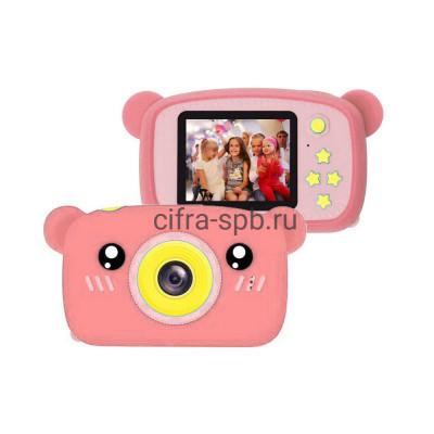 Детский фотоаппарат розовый + чехол мишка купить оптом   cifra-spb.ru