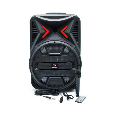 Беспроводная колонка QS-1205 + проводный микрофон + пульт черный KIMISO купить оптом | cifra-spb.ru