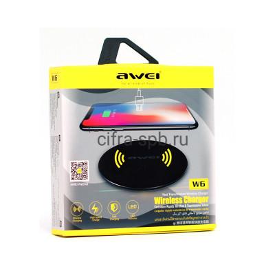 Беспроводная зарядка Micro W6 черный Awei купить оптом | cifra-spb.ru