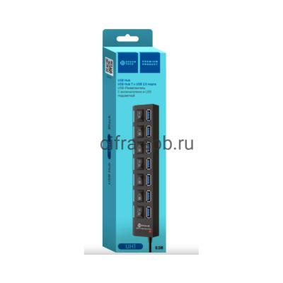 USB Хаб на 7USB DRM-UH1-01 черный Dream купить оптом | cifra-spb.ru