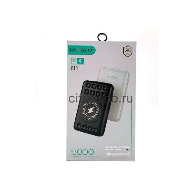 Power Bank 5000mAh B11 с беспроводной зарядкой черный Demaco купить оптом | cifra-spb.ru