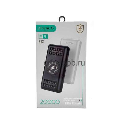 Power Bank 20000mAh B13 с беспроводной зарядкой черный Demaco купить оптом | cifra-spb.ru
