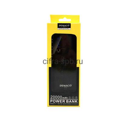 Power Bank 3USB 20000mAh DKK-008 черный Demaco купить оптом | cifra-spb.ru