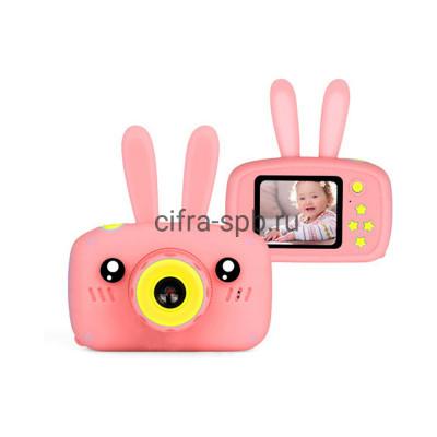 Детский фотоаппарат + чехол с ушками розовый купить оптом | cifra-spb.ru