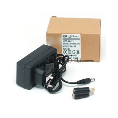 Адаптер LP-225 12V 2A 5.5 + 2 разьема 4.5/2.5 купить оптом | cifra-spb.ru