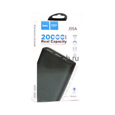 Power Bank 20000mAh J55A 2USB черный Hoco купить оптом | cifra-spb.ru