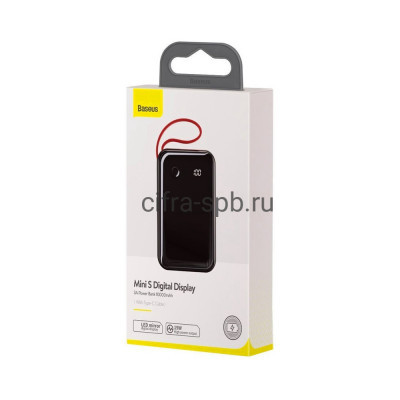 Power Bank 10000mAh 15W 3A PPXF-A01 черный Baseus купить оптом   cifra-spb.ru