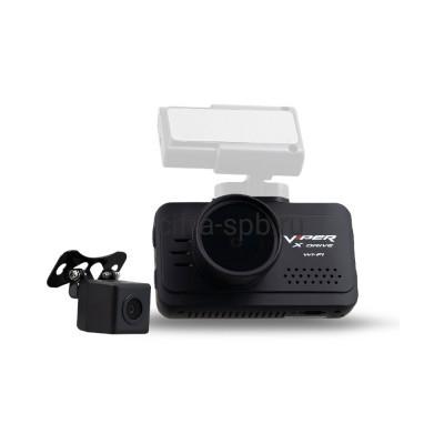 Автомобильный видеорегистратор X-Drive Duo Wi-Fi + камера заднего вида + магнитное крепление Viper купить оптом | cifra-spb.ru