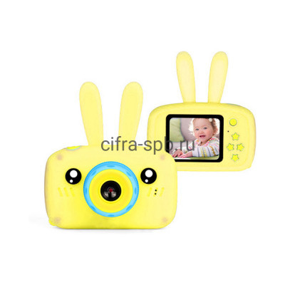 Детский фотоаппарат + чехол с ушками желтый купить оптом | cifra-spb.ru