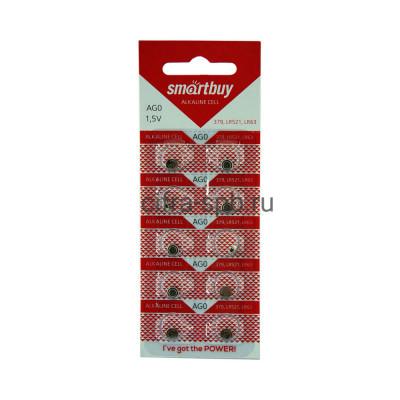 Батарейка AG0 SBBB-AG0-10B Smartbuy 10шт (цена за ед.) купить оптом | cifra-spb.ru