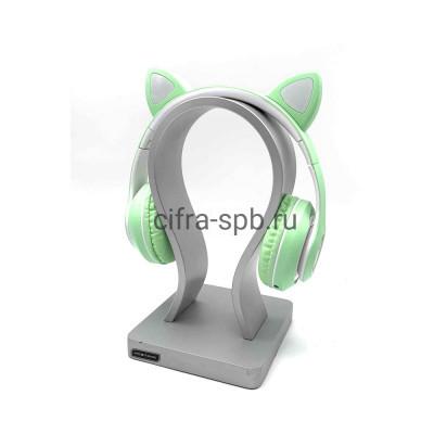 Беспроводные наушники P33M с микрофоном Светящиеся ушки полноразмерные бирюзовый купить оптом | cifra-spb.ru