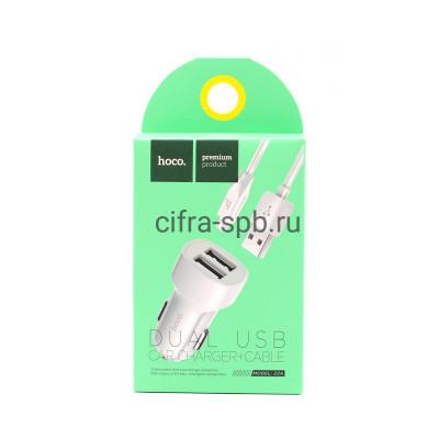 АЗУ 2USB Z2A 2.4A + кабель Micro белый Hoco купить оптом | cifra-spb.ru