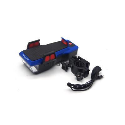 Велосипедный фонарь BZ-1579 черный + крепление на велосипед + сигнальная кнопка + PowerBank ВСАДНИК купить оптом | cifra-spb.ru