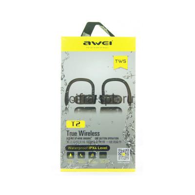 Беспроводные наушники T2 TWS с микрофоном Awei купить оптом | cifra-spb.ru