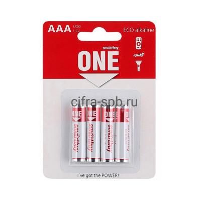 Батарейка LR03 SOBA-3A04B-ECO ONE Smartbuy 4шт (цена за ед.) купить оптом | cifra-spb.ru