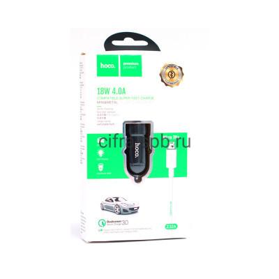 АЗУ USB Z32A 4A 18W + кабель Micro черный Hoco купить оптом | cifra-spb.ru