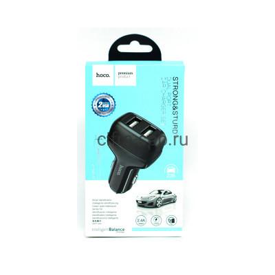 АЗУ 2USB Z36 2.4A + кабель Type-C черный Hoco купить оптом | cifra-spb.ru
