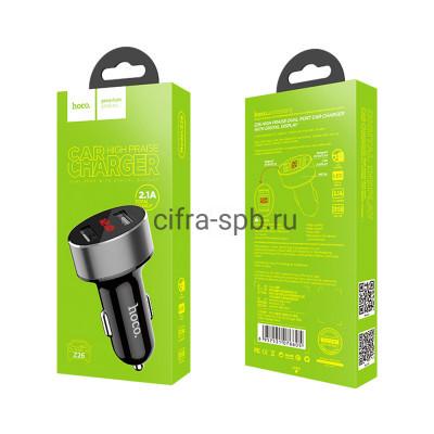 АЗУ 2USB Z26 2.1A 10.5W с дисплеем черный Hoco купить оптом   cifra-spb.ru