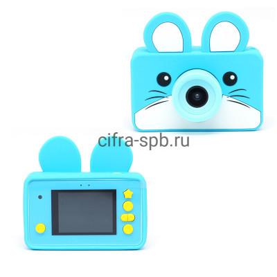 Детский фотоаппарат голубой + чехол голубой Мышка купить оптом | cifra-spb.ru