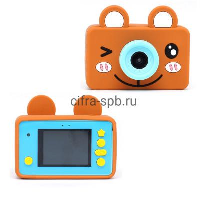 Детский фотоаппарат голубой + чехол коричневый Мишка купить оптом   cifra-spb.ru