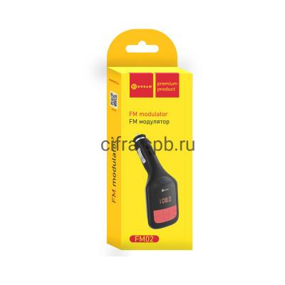FM-Модулятор FM02 (MicroSD, AUX, USB, пульт ДУ) черный Dream купить оптом | cifra-spb.ru