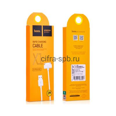 Кабель iPhone 4 X1 белый Hoco 1m купить оптом | cifra-spb.ru