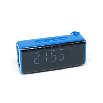 Беспроводная колонка TG-174 синий + часы T&G купить оптом | cifra-spb.ru
