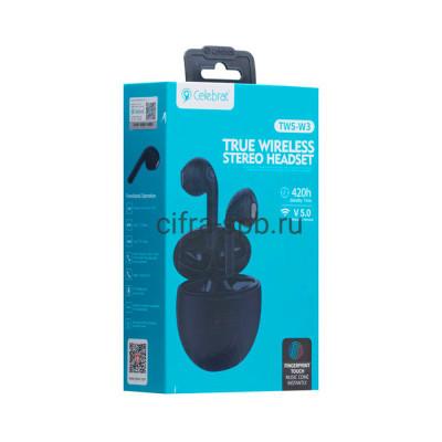 Беспроводные наушники TWS-W3  с микрофоном черный Celebrat купить оптом   cifra-spb.ru