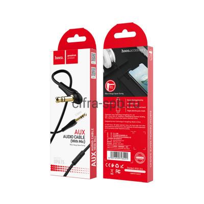 Кабель AUX UPA15 с микрофоном черный Hoco 1m купить оптом   cifra-spb.ru