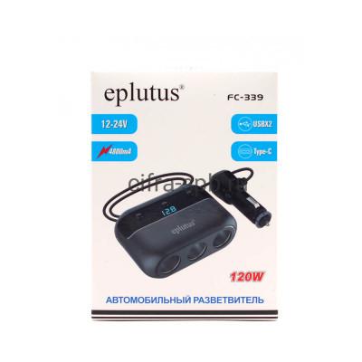 АЗУ 2USB + PD FC-339 + разветвитель на 3 прикуривателя Eplutus купить оптом   cifra-spb.ru