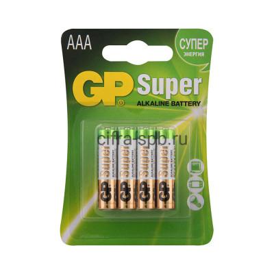 Батарейка LR03 Super GP 4шт. (цена за ед.) купить оптом   cifra-spb.ru