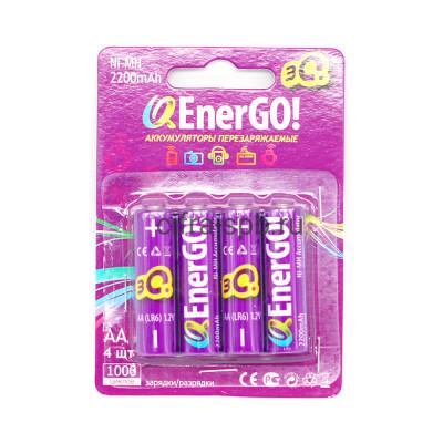 Батарейки аккумуляторные AA 1.2V 2200mAh 4шт. (цена за ед.) купить оптом | cifra-spb.ru