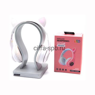 Беспроводные полноразмерные наушники VZV-B39 с микрофоном Светящиеся ушки белый купить оптом | cifra-spb.ru