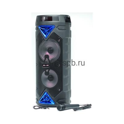 Беспроводная колонка ZQS-6203 + проводной микрофон черно-синий купить оптом | cifra-spb.ru
