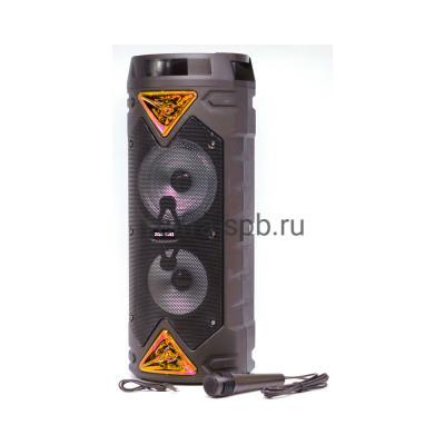 Беспроводная колонка ZQS-6203 + проводной микрофон черно-золотой купить оптом   cifra-spb.ru