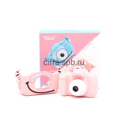 Детский фотоаппарат дракончик D800 + фронтальная камера и чехол розовый купить оптом | cifra-spb.ru