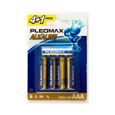 Батарейка LR03 Pleomax 5шт. (цена за ед.) купить оптом | cifra-spb.ru