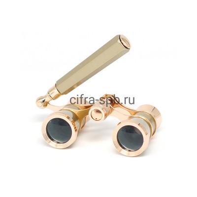 Бинокль 3*25 Театральный - лорнет золото купить оптом | cifra-spb.ru