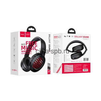Беспроводные наушники W23 полноразмерные с микрофоном черный Hoco купить оптом   cifra-spb.ru
