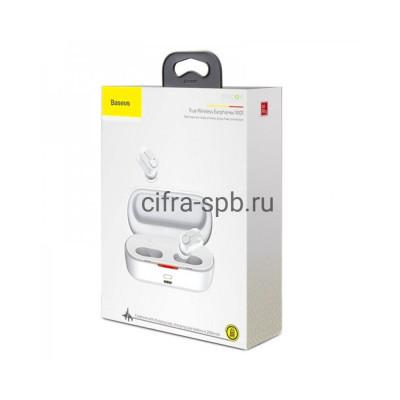 Беспроводные наушники NGW01-02 Encok с микрофоном белый Baseus купить оптом | cifra-spb.ru