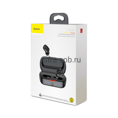 Беспроводные наушники NGW01-01 Encok с микрофоном черный Baseus купить оптом | cifra-spb.ru