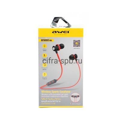 Беспроводные наушники B980BL с микрофоном черный Awei купить оптом | cifra-spb.ru
