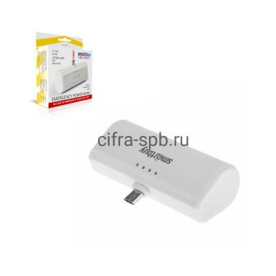 Power Bank 2200 mAh TURBO SBPB-210 2.1A на Micro белый Smartbuy купить оптом | cifra-spb.ru