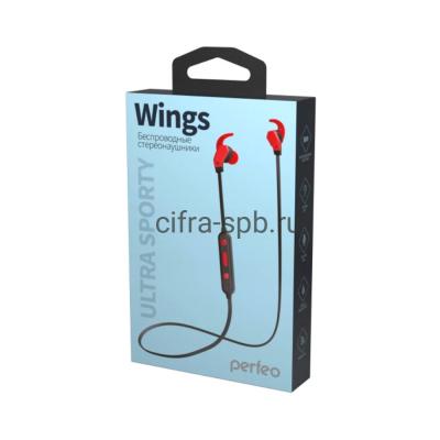 Беспроводные наушники WINGS (PF_A4903) с микрофоном черно-красный Perfeo купить оптом | cifra-spb.ru