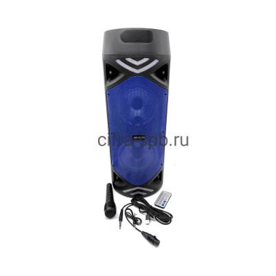 Беспроводная колонка JBK-6515S + проводной микрофон + пульт синий купить оптом | cifra-spb.ru