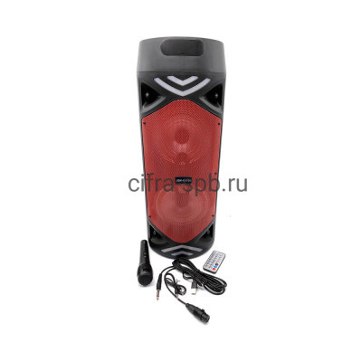 Беспроводная колонка JBK-6515S + проводной микрофон + пульт красный купить оптом   cifra-spb.ru