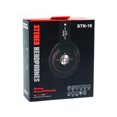 Беспроводные наушники STN-16 с микрофоном полноразмерные черный купить оптом | cifra-spb.ru