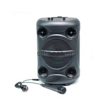 Беспроводная колонка ZQS-8113 + пульт + проводной микрофон черный купить оптом | cifra-spb.ru