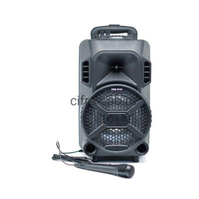 Беспроводная колонка ZQS-8101 + пульт + проводной микрофон черный купить оптом   cifra-spb.ru