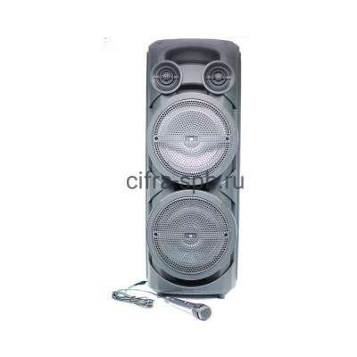 Беспроводная колонка ZQS-8202S + пульт + проводной микрофон черный купить оптом   cifra-spb.ru